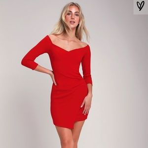 Red Lulu's cocktail dress